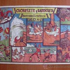 Tebeos: CUCHUFLETE Y BARRIGUITA - EDITORIAL VALENCIANA 1941 - EJEMPLAR MONOGRÁFICO. Lote 26600013