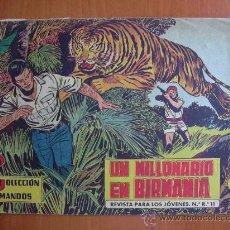 Tebeos: COLECCIÓN COMANDOS Nº 17 - EDITORIAL VALENCIANA 1954. Lote 12999441
