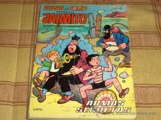 COLOSOS DEL COMIC CON JAIMITO. Nº EXTRAORDINARIO. EDITORIAL VALENCIANA 1975. REGALO ALMANAQUE 1967. (Tebeos y Comics - Valenciana - Colosos del Comic)
