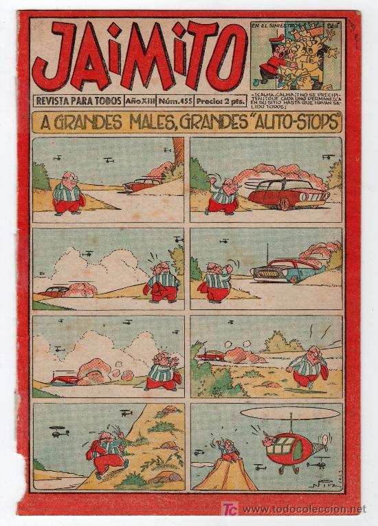 JAIMITO REVISTA PARA TODOS.Nº 455. AÑO XIII. 28 JUNIO 1958. EDITORIAL VALENCIANA. (Tebeos y Comics - Valenciana - Jaimito)