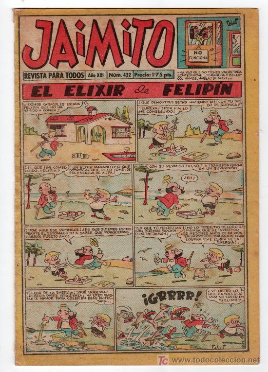JAIMITO REVISTA PARA TODOS.Nº 432. AÑO XIII. 18 ENERO 1958. EDITORIAL VALENCIANA. (Tebeos y Comics - Valenciana - Jaimito)