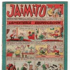 Tebeos: JAIMITO REVISTA PARA TODOS.Nº 472. AÑO XIII. 25 OCTUBRE 1958. EDITORIAL VALENCIANA. . Lote 13707911