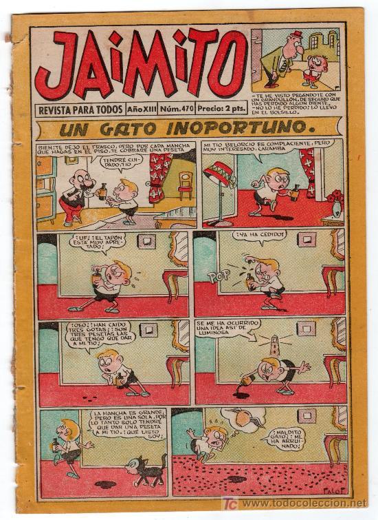 JAIMITO REVISTA PARA TODOS.Nº 470. AÑO XIII. 11 OCTUBRE 1958. EDITORIAL VALENCIANA. (Tebeos y Comics - Valenciana - Jaimito)