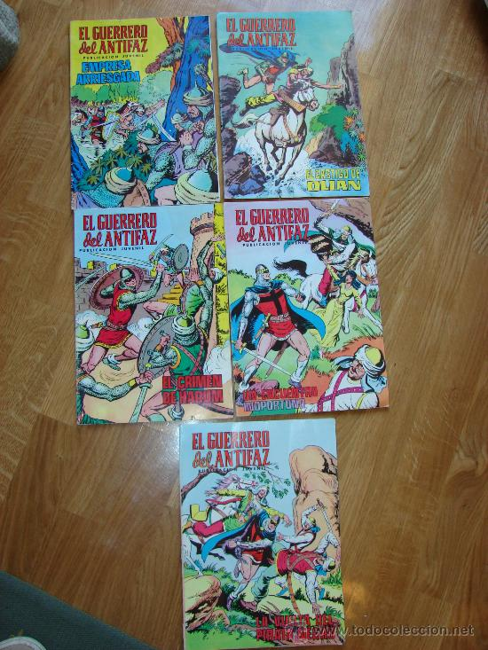 LOTE DE EL GUERRERO DEL ANTIFAZ. Nº 14, 22, 71, 215 Y 271 (Tebeos y Comics - Valenciana - Guerrero del Antifaz)