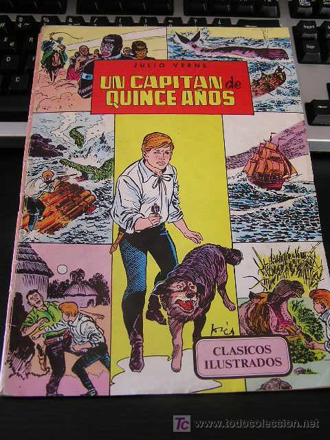 CLASICOS ILUSTRADOS UN CAPITAN DE QUINCE AÑOS DE BROCAL REMOHI VALENCIANA (Tebeos y Comics - Valenciana - Otros)