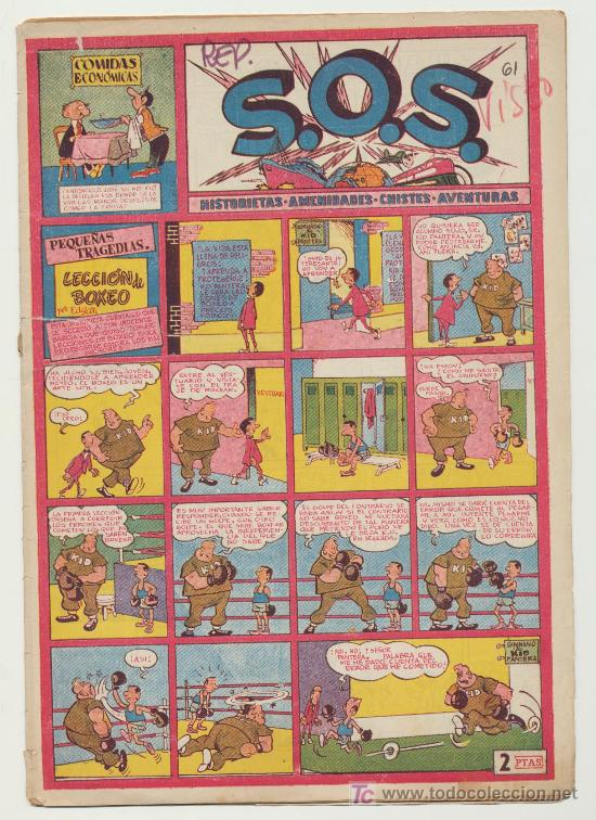S.O.S. Nº 61. VALENCIANA 1951 (Tebeos y Comics - Valenciana - S.O.S)