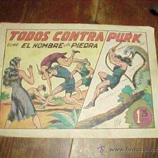 Tebeos: TODOS CONTRA PURK. CON EL HOMBRE DE PIEDRA. Nº 21. EDITORA VALENCIANA *. Lote 15394153