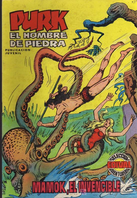 PURK, EL HOMBRE DE PIEDRA Nº4 - MANUEL GAGO - 1974 - EDIVAL (Tebeos y Comics - Valenciana - Purk, el Hombre de Piedra)