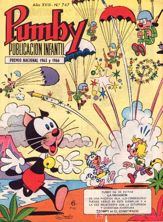 PUMBY. AÑO XVIII -Nº 747 (Tebeos y Comics - Valenciana - Pumby)