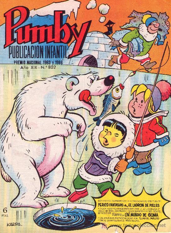 PUMBY. AÑO XIX -Nº 802 (Tebeos y Comics - Valenciana - Pumby)