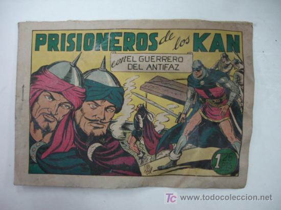 PRISIONEROS DE LOS KAN. CON EL GUERRERO DEL ANTIFAZ. (EDITORIAL VALENCIANA) (Tebeos y Comics - Valenciana - Guerrero del Antifaz)