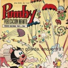 Tebeos: COMIC PUMBY Nº 747 NUEVO ORIGINAL DEL AÑO 1972-1973, EDITORIAL VALSA-J. SANCHÍS Y KARPA. Lote 27573736