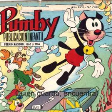 Tebeos: COMIC PUMBY Nº 748 NUEVO ORIGINAL DEL AÑO 1972-1973, EDITORIAL VALSA-J. SANCHÍS Y KARPA. Lote 112642838
