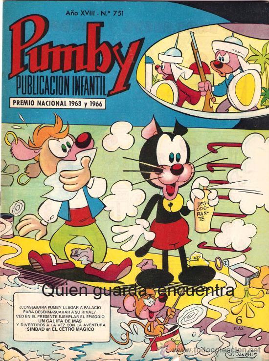 COMIC PUMBY Nº 751 NUEVO ORIGINAL DEL AÑO 1972-1973, EDITORIAL VALSA-J. SANCHÍS Y KARPA (Tebeos y Comics - Valenciana - Pumby)