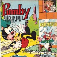 Tebeos: COMIC PUMBY Nº 777 NUEVO ORIGINAL DEL AÑO 1972-1973, EDITORIAL VALSA-J. SANCHÍS Y KARPA. Lote 26509215