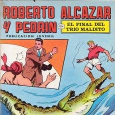Tebeos: ROBERTO ALCAZAR Y PEDRIN Nº 18. EL FINAL DEL TRIO MALDITO. EDITORIAL VALENCIANA COLOR.. Lote 27109801