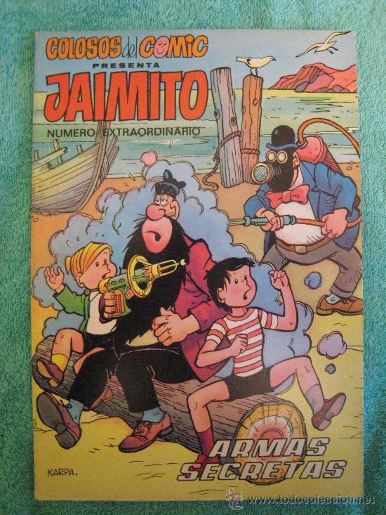 EXTRAORDINARIO DE JAIMITO(JAIMITO PRESENTA COLOSOS DEL COMIC) 1-2-3-4-5(COMPLETA?).VALENCIANA 1975 (Tebeos y Comics - Valenciana - Colosos del Comic)