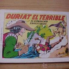 Tebeos: EL ESPADACHIN ENMASCARADO. Nº 7. DURIAT EL TERRIBLE. 2ª EDICION. EDITORA VALENCIANA. 1981. *. Lote 19149292