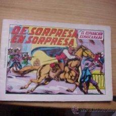 Tebeos: EL ESPADACHIN ENMASCARADO. Nº 12. DE SORPRESA EN SORPRESA. 2ª EDICION. EDITORA VALENCIANA. 1981.*. Lote 19149331