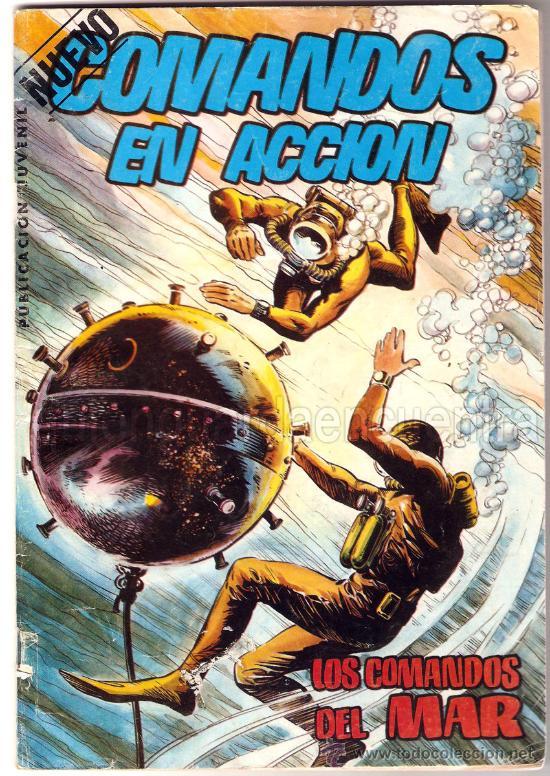 COMANDOS EN ACCIÓN. LOS COMANDOS DEL MAR. EDITORIAL VALENCIANA 1982. (Tebeos y Comics - Valenciana - Otros)