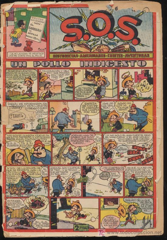S.O.S. Nº 15. VALENCIANA 1951. (Tebeos y Comics - Valenciana - S.O.S)