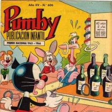 Tebeos: (M-9) PUMBY - AÑO XV - NUM. 606 - 1969. Lote 20556750