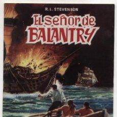 Tebeos: CLASICOS ILUSTRADOS Nº 5. EL SEÑOR DE BALANTRY. VALENCIANA.. Lote 20654147