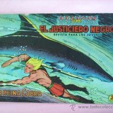 Tebeos: EL JUSTICIERO NEGRO , N.4 . LA REINA COBRA EDITORIAL VALENCIANA. Lote 20759343