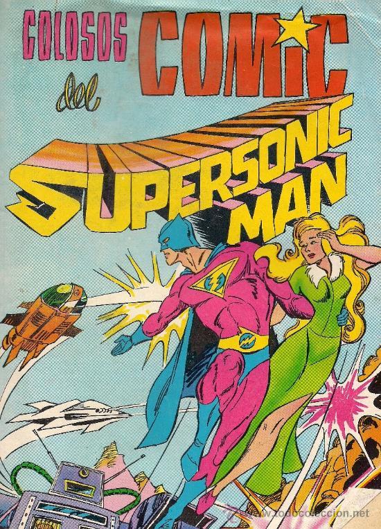 SUPERSONIC MAN Nº 1 - COLOSOS DEL COMIC - VALENCIANA - 1979 (Tebeos y Comics - Valenciana - Colosos del Comic)