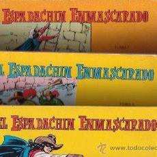Tebeos: EL ESPADACHIN ENMASCARADO, TOMOS Nº 1 AL 10 ( CONTIENEN Nº 1 AL 40 DE 2ª EDICION ). Lote 22667715
