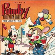 Tebeos: COMIC PUMBY Nº 743 NUEVO ORIGINAL DEL AÑO 1972, EDITORIAL VALSA-J. SANCHÍS Y KARPA. Lote 26966071