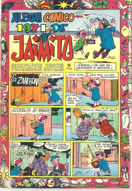 JAIMITO ALBUN COMICO PARA 1971 (Tebeos y Comics - Valenciana - Jaimito)