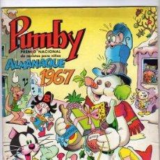 Tebeos: (M-9) PUMBY ALMANAQUE 1967 , EDT VALENCIANA, ROTURITA DE 3 CM EN LA CUBIERTA. Lote 25679407