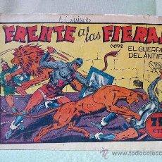 Tebeos: COMIC, ORIGINAL, GUERRERO DEL ANTIFAZ, FRENTE A LAS FIERAS, EDITORIAL VALENCIANA, Nº 21. Lote 22953533