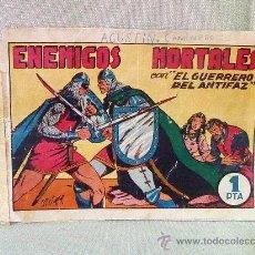 Tebeos: COMIC, EL GUERRERO DEL ANTIFAZ, , EDITORIAL VALENCIANA , Nº 9, ORIGINAL, ENEMIGOS MORTALES,. Lote 23100600