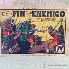 Tebeos: COMIC, EL GUERRERO DEL ANTIFAZ, , EDITORIAL VALENCIANA , Nº 25, ORIGINAL, EL FIN DE UN ENEMIGO,. Lote 23100682