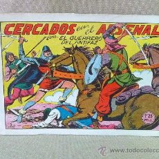 Tebeos: COMIC, EL GUERRERO DEL ANTIFAZ, , EDITORIAL VALENCIANA , Nº 157, CERCADOS EN EL ARSENAL, ORIGINAL,. Lote 23100743