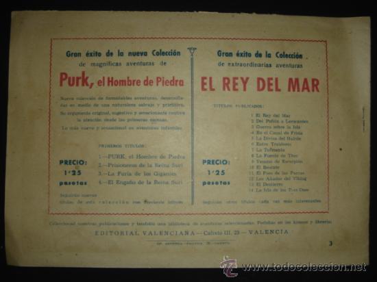 Tebeos: COMIC Nº 3 EL HOMBRE DE PIEDRA, EDITORIAL VALENCIANA, ORIGINAL DE LA ÉPOCA - Foto 2 - 27089736