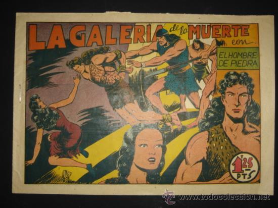 COMIC Nº 8 EL HOMBRE DE PIEDRA, EDITORIAL VALENCIANA, ORIGINAL DE LA ÉPOCA (Tebeos y Comics - Valenciana - Purk, el Hombre de Piedra)