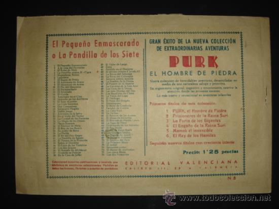 Tebeos: COMIC Nº 8 EL HOMBRE DE PIEDRA, EDITORIAL VALENCIANA, ORIGINAL DE LA ÉPOCA - Foto 2 - 27089737