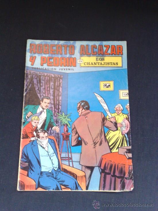 ROBERTO ALCAZAR Y PEDRIN EN LOS CHANTAJISTAS NUMERO 27 EPOCA 2 1976 (Tebeos y Comics - Valenciana - Roberto Alcázar y Pedrín)