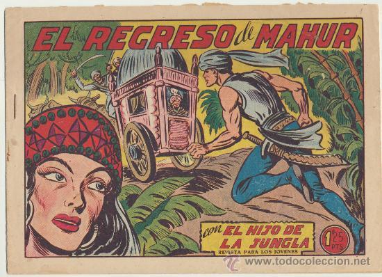 EL HIJO DE LA JUNGLA Nº 11. VALENCIANA 1956. (Tebeos y Comics - Valenciana - Hijo de la Jungla)