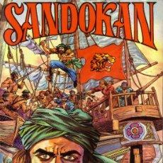 Tebeos: SANDOKAN - LOS DOS TIGRES - EDIVAL - 1976 - TAPAS CARTÓN BLANDO . Lote 26007752
