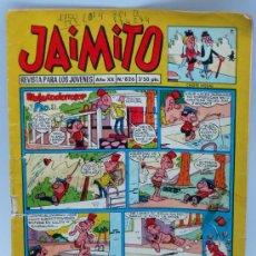Tebeos: JAIMITO Nº 826 EDITORIAL VALENCIANA 1965 PORTADA NABUCODONOSOR Y PÍO. Lote 24110922