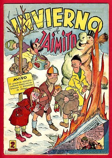 JAIMITO , EXTRAORDINARIO INVIERNO JAIMITO , ORIGINAL , ANTIGUO , B (Tebeos y Comics - Valenciana - Jaimito)
