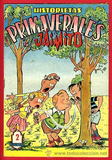 JAIMITO , EXTRAORDINARIO PRIMAVERA , HITORIETAS PRIMAVERALES , ORIGINAL , ANTIGUO , B (Tebeos y Comics - Valenciana - Jaimito)