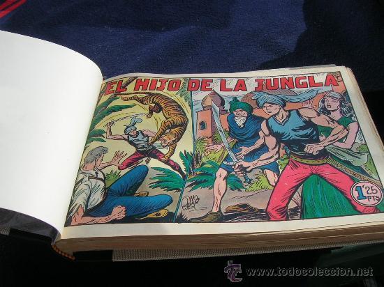 EL HIJO DE LA JUNGLA COMPLETA ORIGINAL Y BIEN ENCUADERNADA VER FOTOS (Tebeos y Comics - Valenciana - Hijo de la Jungla)