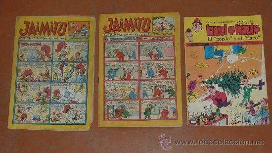 LOTE DE 2 JAIMITO Y UN LAUREL Y HARDY. ANTIGUOS. (Tebeos y Comics - Valenciana - Jaimito)
