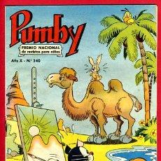 Tebeos: PUMBY , Nº 340 , EDITORIAL VALENCIANA , ORIGINAL , B. Lote 24701868
