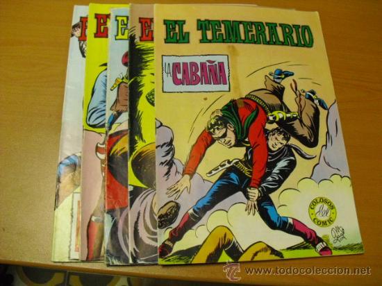 6 TEBEOS DEL EL TEMERARIO 1981 (Tebeos y Comics - Valenciana - Colosos del Comic)